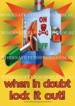 Lockout Tagout Work Safety Posters
