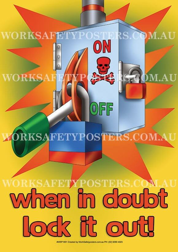 Lockout Tagout Work Safety Posters Safety Posters Australia