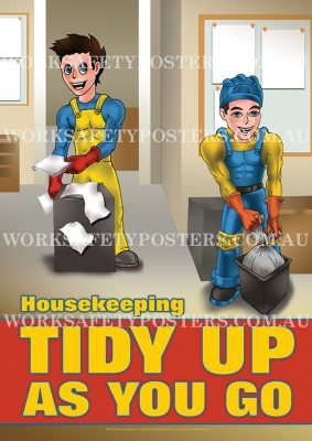 Housekeeping Work Health and Safety Posters