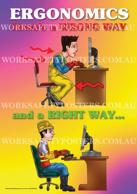 Safe Ergonomics Work Health and Safety Posters