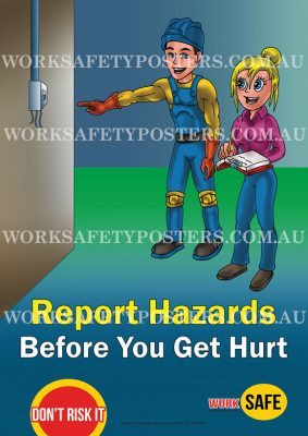 Report Hazards Workplace Safety Poster