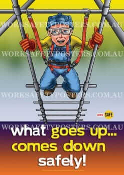 Working at Heights Safety Poster