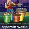 Environmental Waste Material Safety Poster