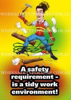 Tidy Workplace Safety Posters