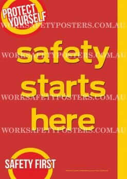 Safety Starts Here Poster