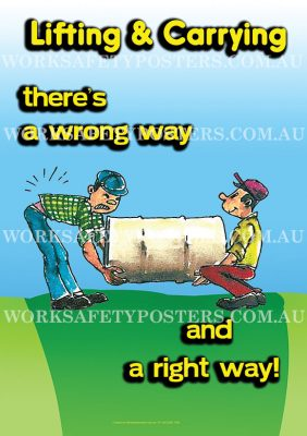 Lifting and Carrying Work Safety Posters