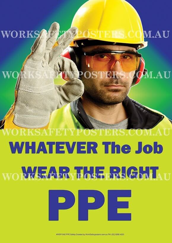 PPE Work Safety Posters - Safety Posters Australia