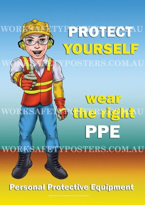 Wear The Right PPE Safety Poster