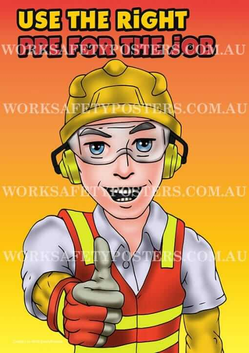 Use The Right PPE Workplace Safety Poster