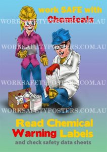 Read Chemical Labels SDS Safety Poster
