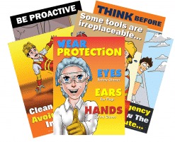 Manufacturing Safety Six Pack of Posters