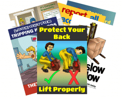 Warehouse Safety Six Pack of Posters