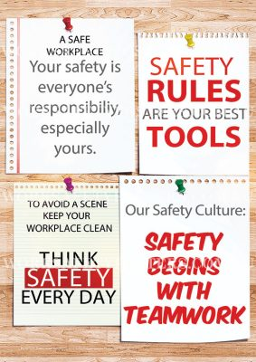 Housekeeping Reduces Hazards Safety Poster Safety