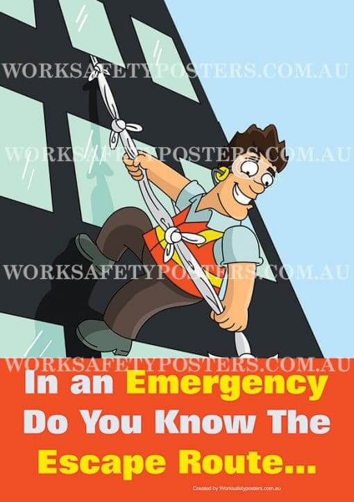 Emergency Evacuation Safety Posters