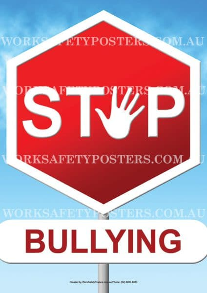 Stop Bullying Safety Poster