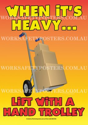 Safe Heavy Lifting Safety Poster