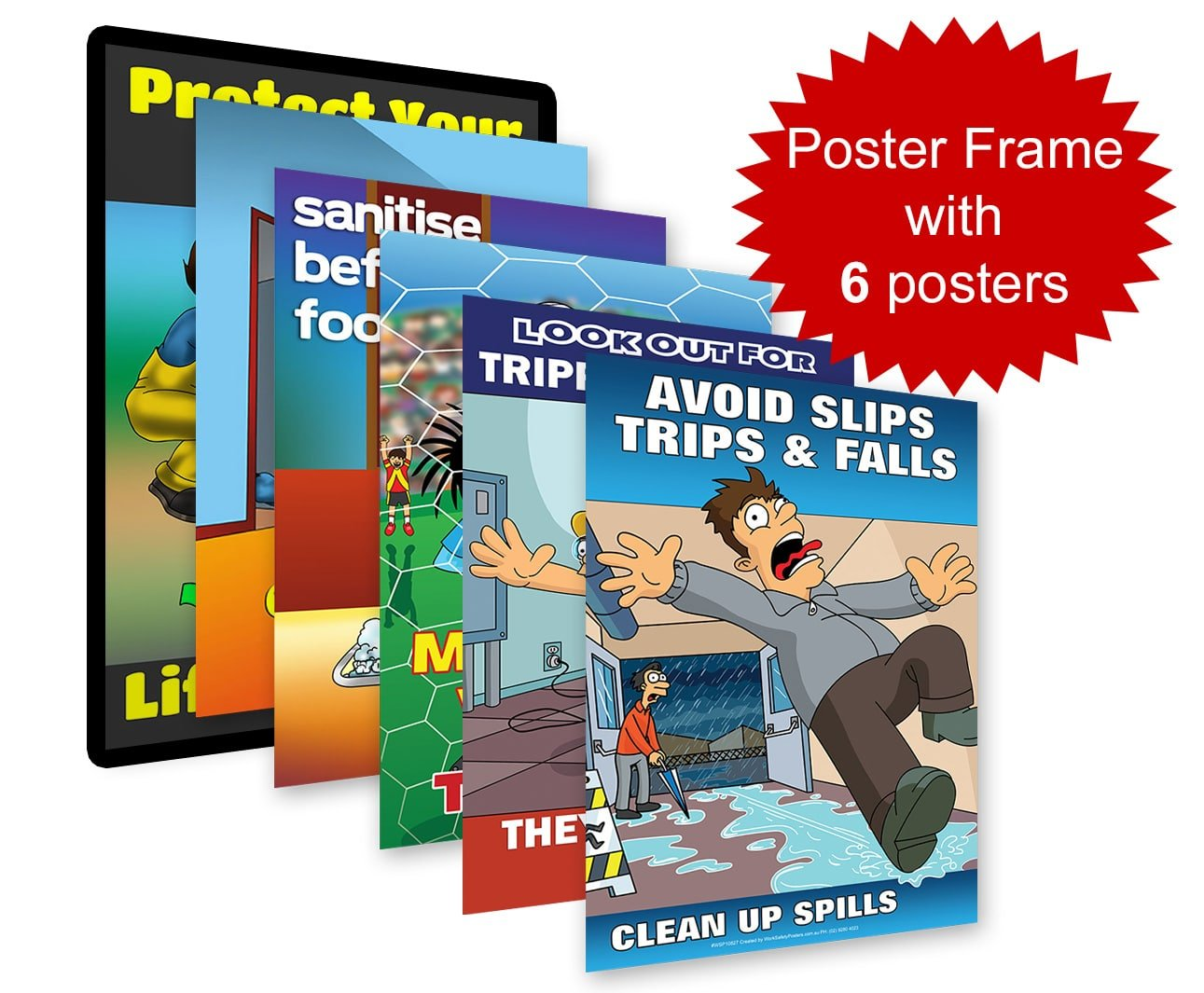 Safety Poster Frame With Six Posters - Safety Posters ...